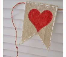 how to make a no fray valentine s or any day burlap banner, crafts, how to, seasonal holiday decor, valentines day ideas