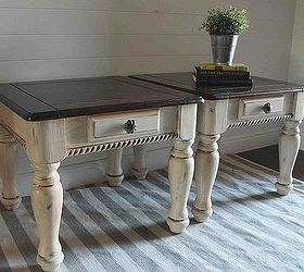 Two Tone Painted Furniture Two Toned Chalk Paint Two Tone Painted Side Tables Painted Furniture Hometalk Two Tone Painted Side Tables Hometalk