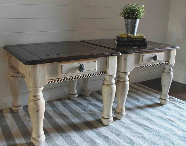 Two Tone Painted Side Tables Furniture