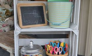 wood crates become craft station organization, craft rooms, crafts, repurposing upcycling, woodworking projects