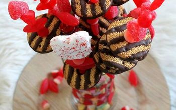 a valentine s day candy bouquet, crafts, seasonal holiday decor, valentines day ideas