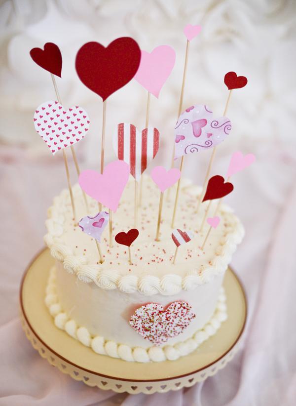 Easy Valentines Day Paper Cake Topper Hometalk