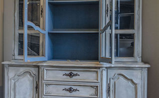 a china cabinet transformation, dining room ideas, painted furniture