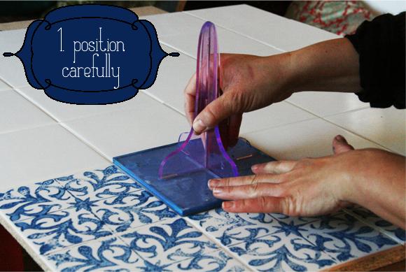 diy stamped tile splashback, how to, kitchen backsplash, kitchen design, painting