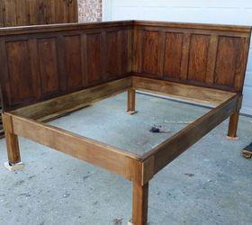 Corner Queen Size Bed Using 2 Old 5 Panel Doors Vintage Headboards, Bedroom  Ideas,