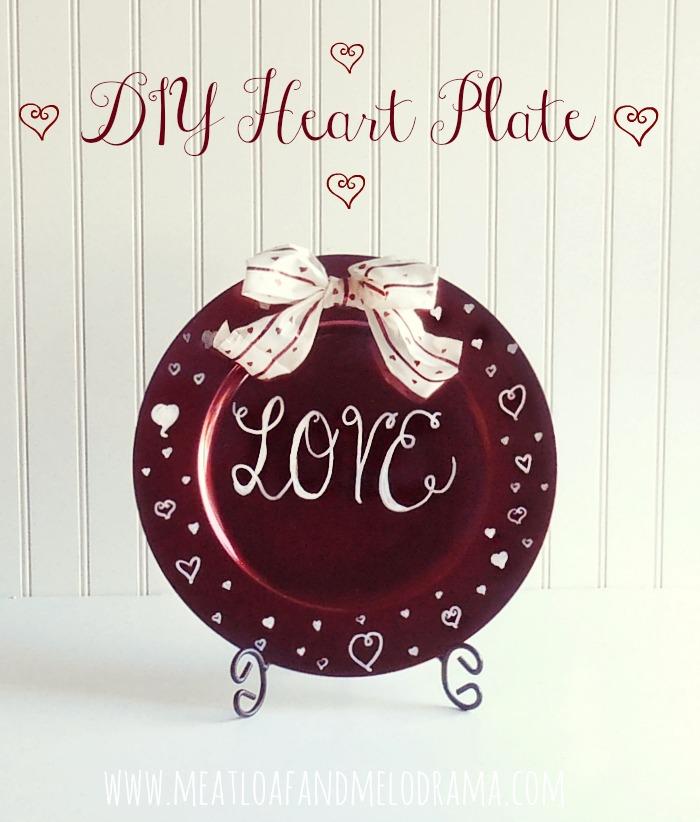 easy diy valentine s day plate, crafts, seasonal holiday decor, valentines day ideas