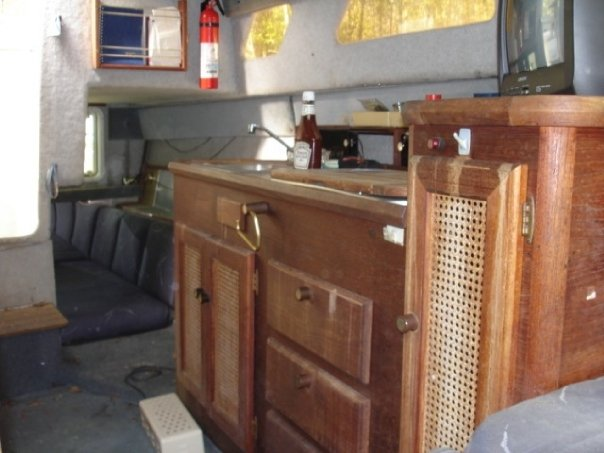 Revamping Cabin Doors and Teak Wood Galley on a Boat ...
