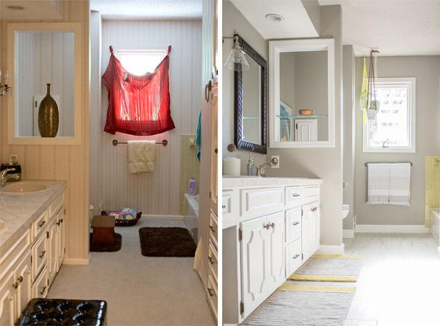 Drastic before after bathroom remodel all diy hometalk - Bathroom remodel before and after ...