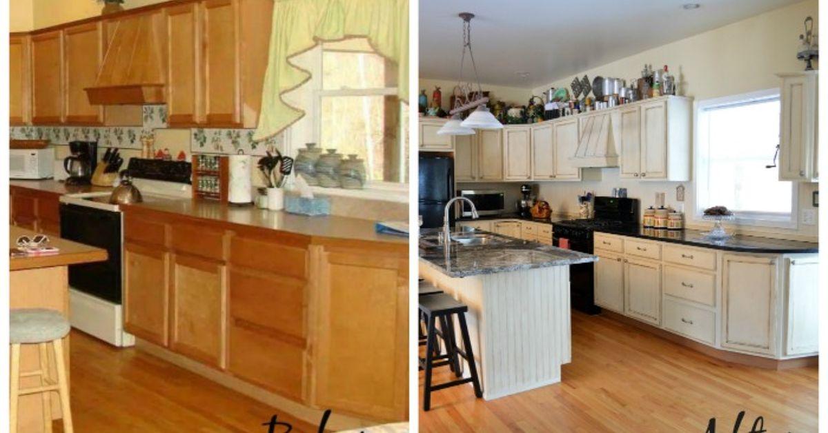 Kitchen Makeover Using Chalk Paint By, Annie Sloan Laminate Kitchen Cabinets
