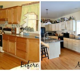 Kitchen Makeover Using Chalk Paint By Annie Sloan, Chalk Paint,  Countertops, Kitchen Cabinets