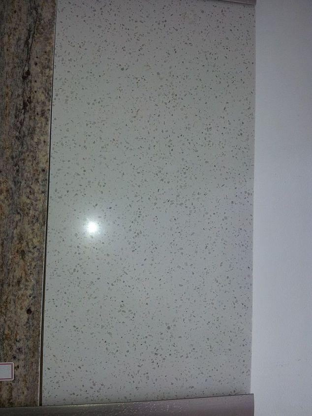 q granite vs quartz kitchen countertop, countertops, kitchen design, This is one of the white quartz I was considering
