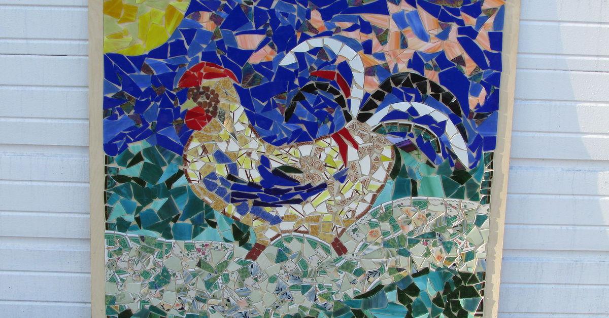 Left Over Broken Gl Mosaic Art Piece