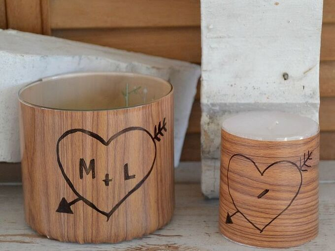 faux wrapped wood candles, crafts, how to, seasonal holiday decor, valentines day ideas