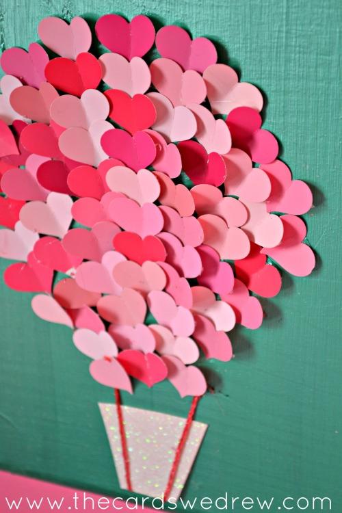 Paint Swatch Heart Air Balloon Nursery Art Bedroom Ideas Crafts How To