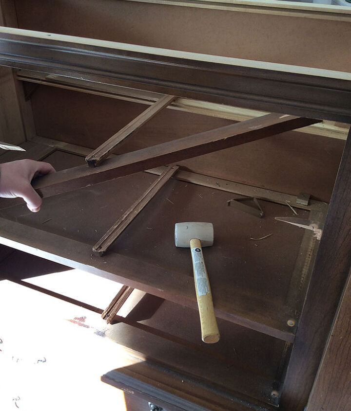 a 30 mid century armoire gets a makeover, chalk paint, painted furniture, repurposing upcycling