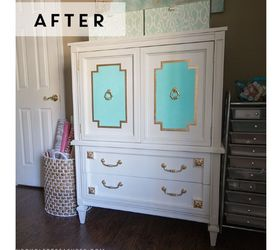 A 30 Mid Century Armoire Gets A Makeover, Chalk Paint, Painted Furniture,  Repurposing