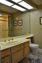 guest bathroom makeover before after, bathroom ideas, home improvement, painted furniture, repurposing upcycling, small bathroom ideas