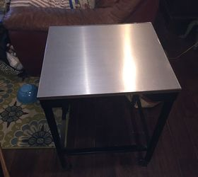 Stainless Steel Contact Paper Table Top Makeover Hometalk