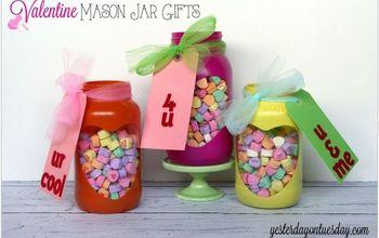 Valentine Mason Jar Heart Gifts