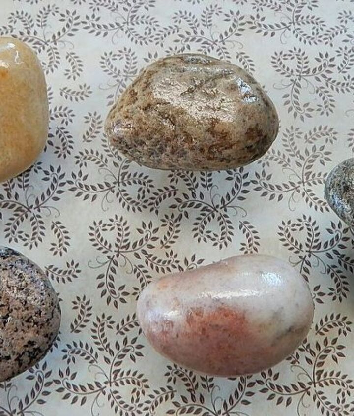 diy beach stone cabinet knobs, crafts, how to, kitchen cabinets, kitchen design, repurposing upcycling