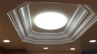 q how to replace a flourescent light, home maintenance repairs, how to, lighting, Refinished flourscent light opening