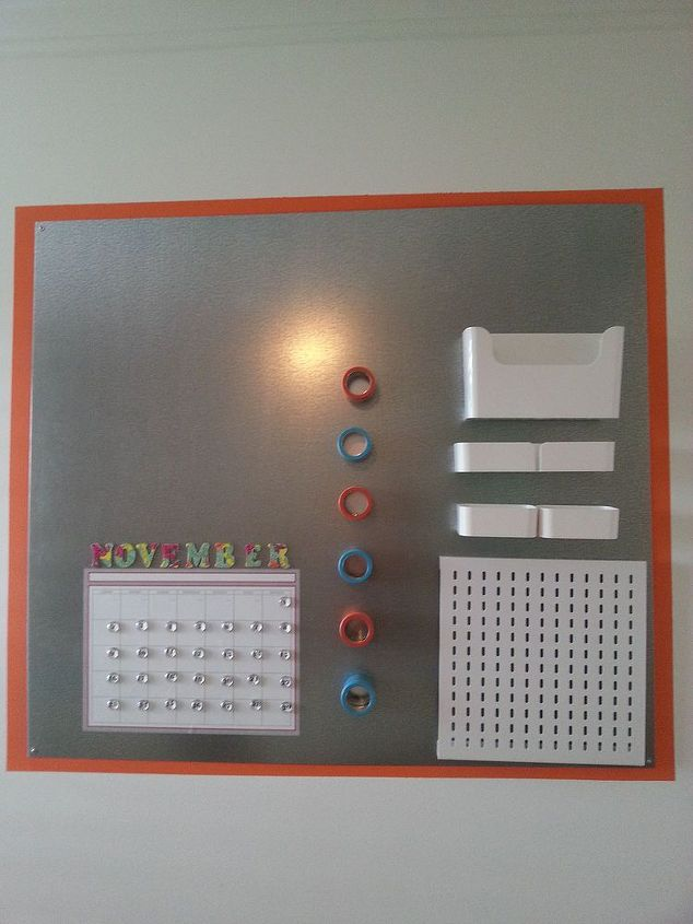 diy command central office message board, crafts, diy, how to, organizing, wall decor