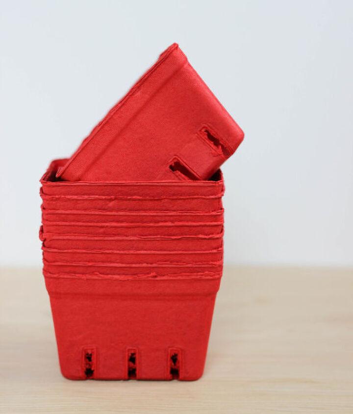 berry basket valentine, crafts, repurposing upcycling, seasonal holiday decor, valentines day ideas