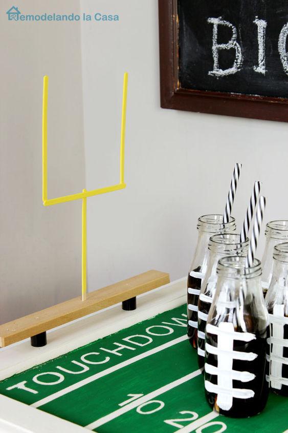 super bowl football field party tray, crafts, doors, how to, repurposing upcycling, seasonal holiday decor