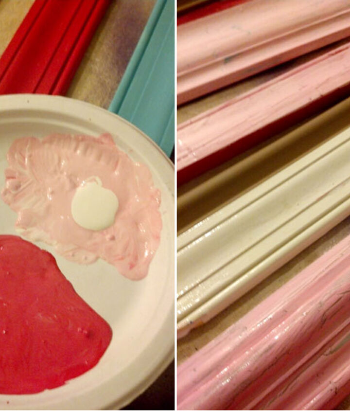 heart art made out of scrap pieces of molding, crafts, how to, seasonal holiday decor, valentines day ideas, woodworking projects
