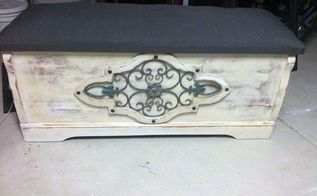 cedar chest to sitting chest, chalk paint, painted furniture, woodworking projects