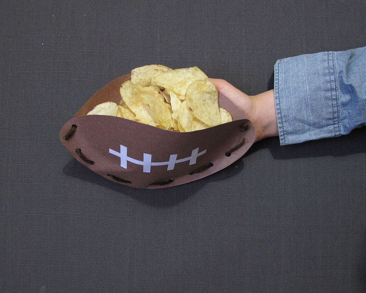 football snack bowl, crafts, how to, seasonal holiday decor