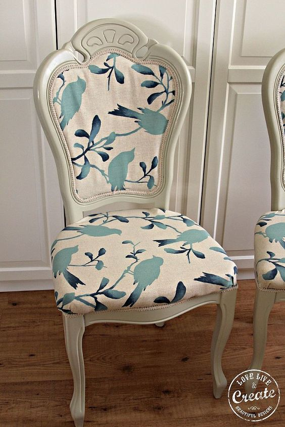 broken chairs to upcycled beautiful shabby chic, painted furniture, reupholster