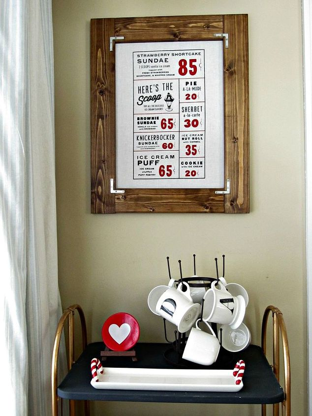 diy framed tea towel art, crafts, how to, kitchen design, repurposing upcycling, wall decor