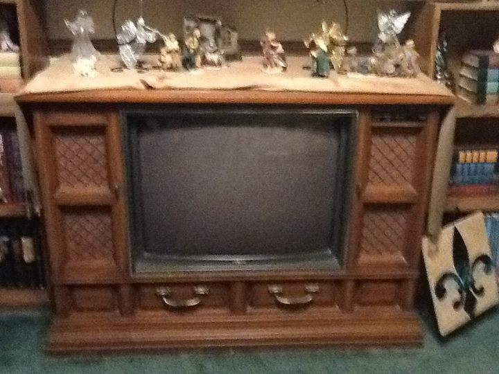 Repurposing An Old Console Tv That Doesnt Work Hometalk