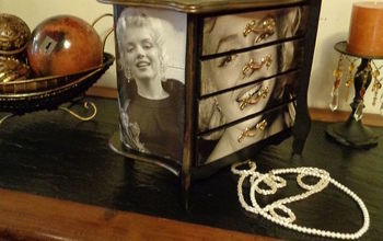 jewelry chest makeover, crafts, decoupage, repurposing upcycling