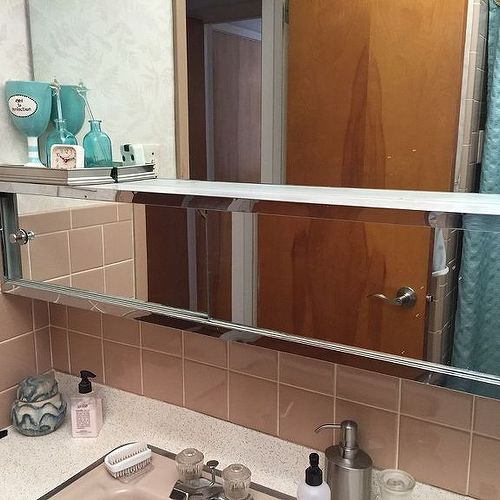 sliding mirrors bathroom does anyone any ideas how to update a 60 s medicine 14472