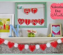 non traditional valentine s day mantel, crafts, fireplaces mantels, seasonal holiday decor, valentines day ideas
