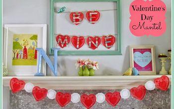 Non-Traditional Valentine's Day Mantel