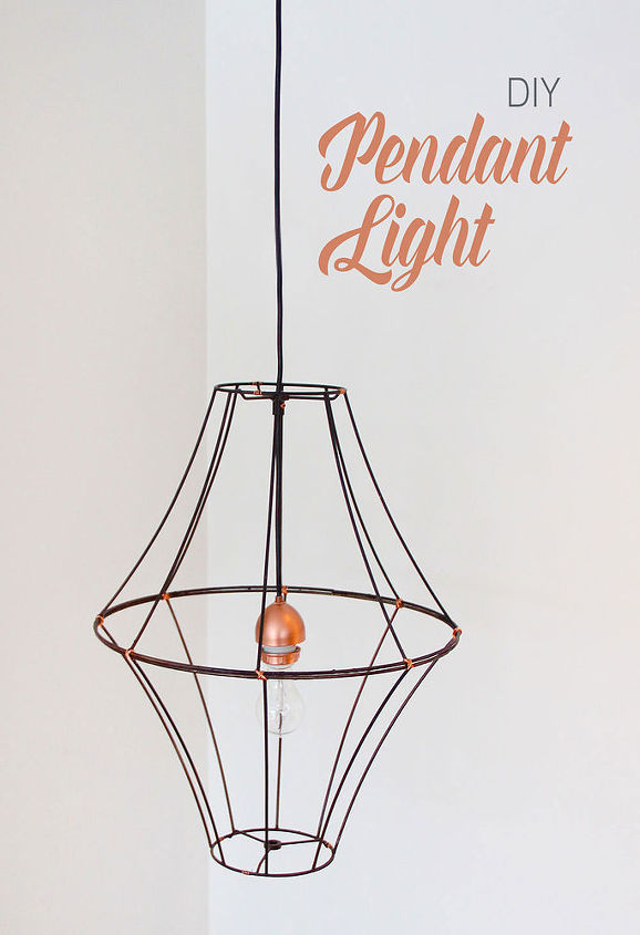 diy lampshade pendant light, crafts, dining room ideas, diy, how to, lighting, repurposing upcycling