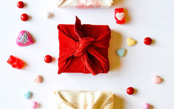 DIY Fabric Wrapped Valentine's Day Gift Boxes