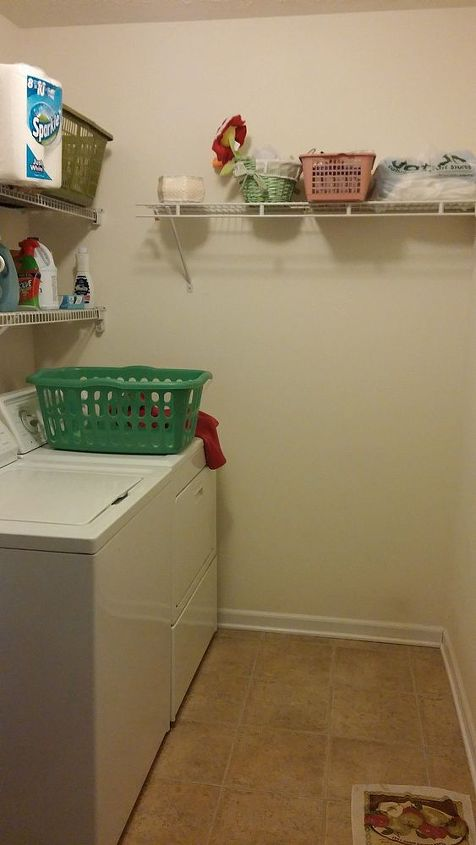 q ideas for cheap laundry room make over, home improvement, laundry rooms, Far left end of laundry room