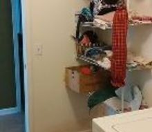 q ideas for cheap laundry room make over, home improvement, laundry rooms, Beginning left side of laundry room