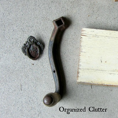re purposed crank handle towel holder, how to, kitchen design, repurposing upcycling