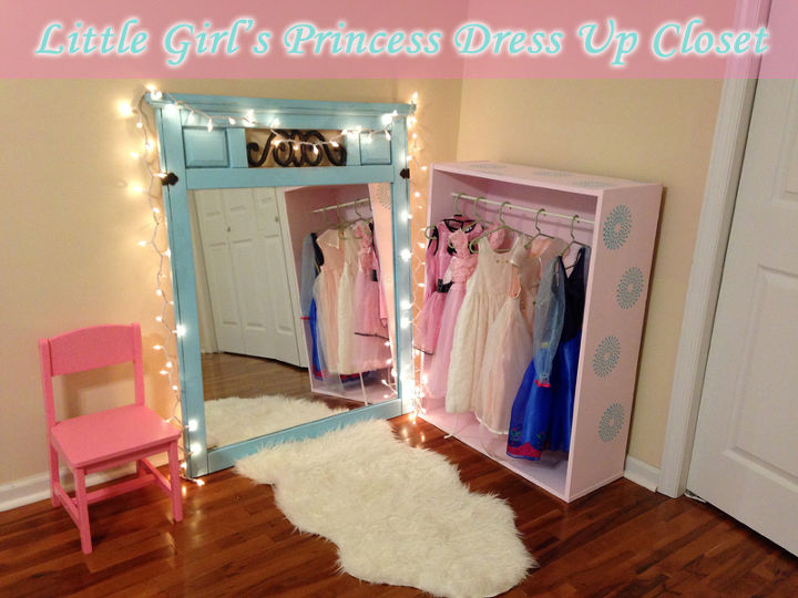 Diy Little S Princess Dress Up Closet Bedroom Ideas Painted Furniture Repurposing