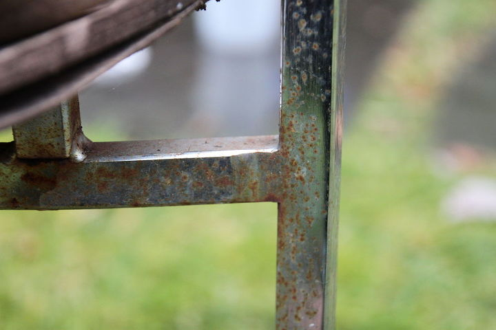 upcycled metal cow skin armchair, painted furniture, repurposing upcycling