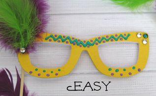 easy mardi gras mask, crafts, how to, seasonal holiday decor