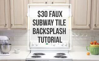 30 faux subway tile backsplash diy, how to, kitchen backsplash, kitchen design, painting