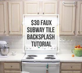30 Faux Subway Tile Backsplash Diy, How To, Kitchen Backsplash, Kitchen  Design,