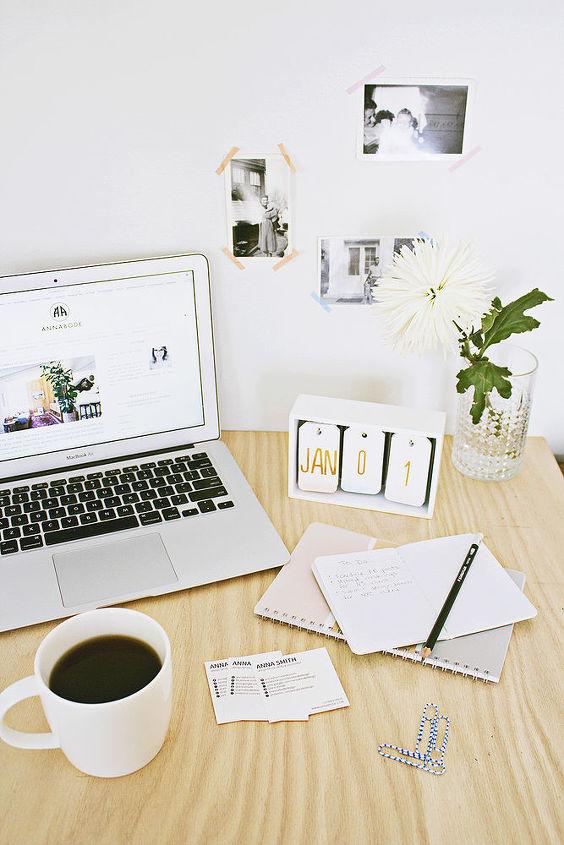 diy desk calendar, crafts, home office, how to, organizing
