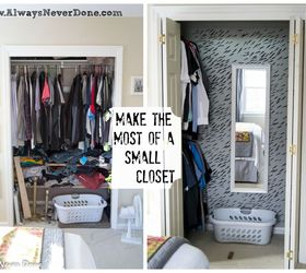 Make The Most Out Of A Small Closet, Bedroom Ideas, Closet, Organizing,